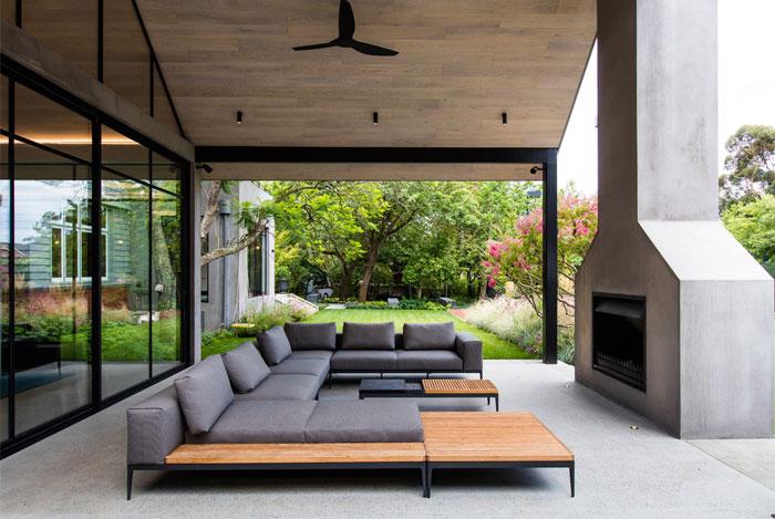 built in outdoor kitchen ian barker gardens 4