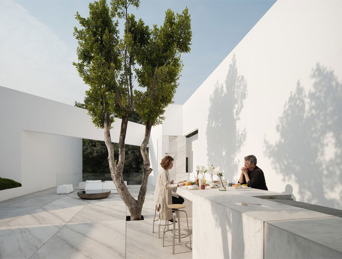 built in outdoor kitchen miguel angel aragones