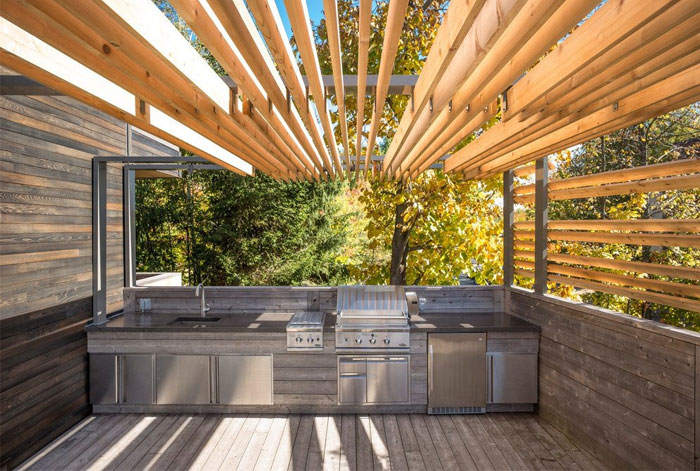 l shaped terrace kitchen