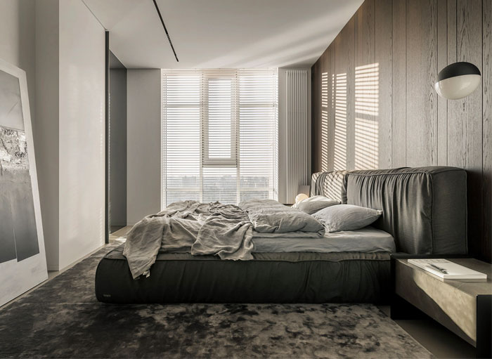 minimalist monochrome bedroom decor 2