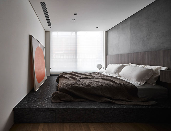 modern minimalist bedroom platform storage bed 3