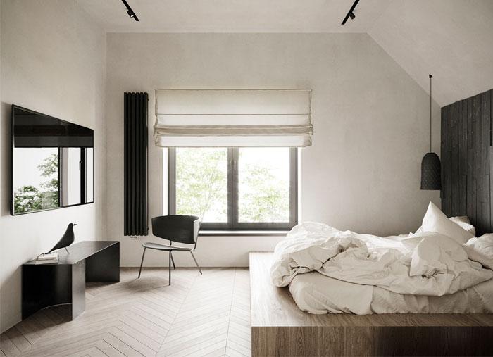 monochrome bedroom decor 2
