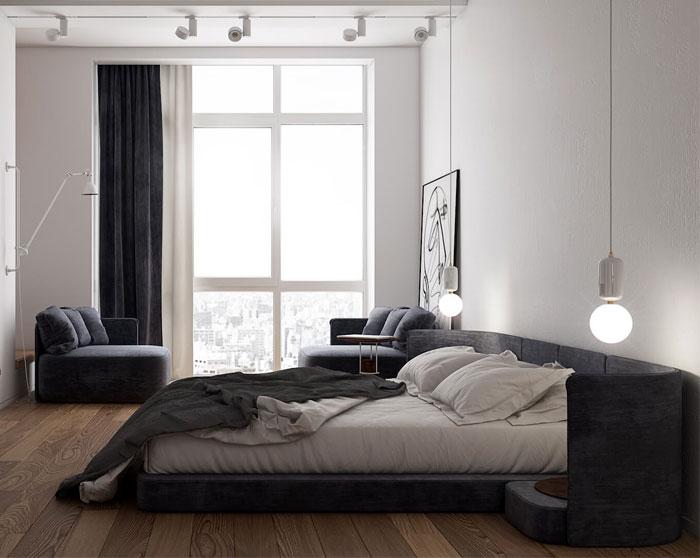 monochrome bedroom decor 5
