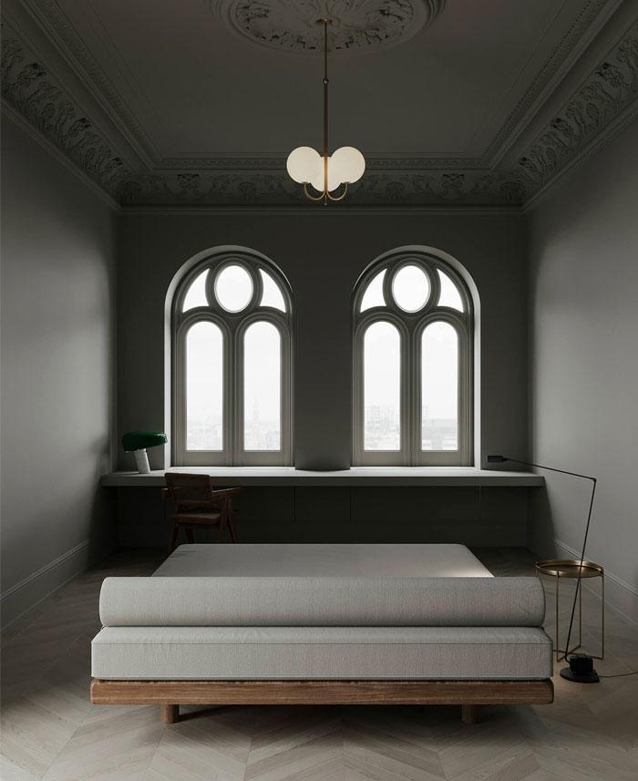 monochrome bedroom decor