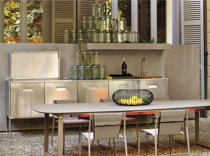 stainless steel outdoor kitchen arclinea 3