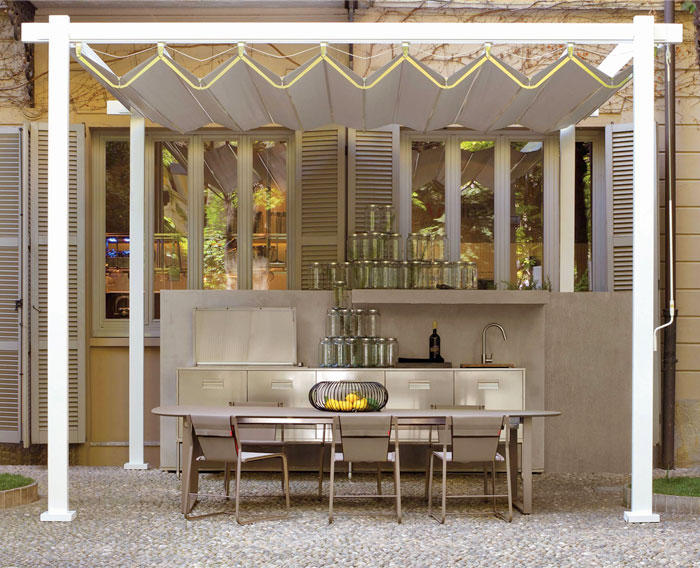 stainless steel outdoor kitchen arclinea 4