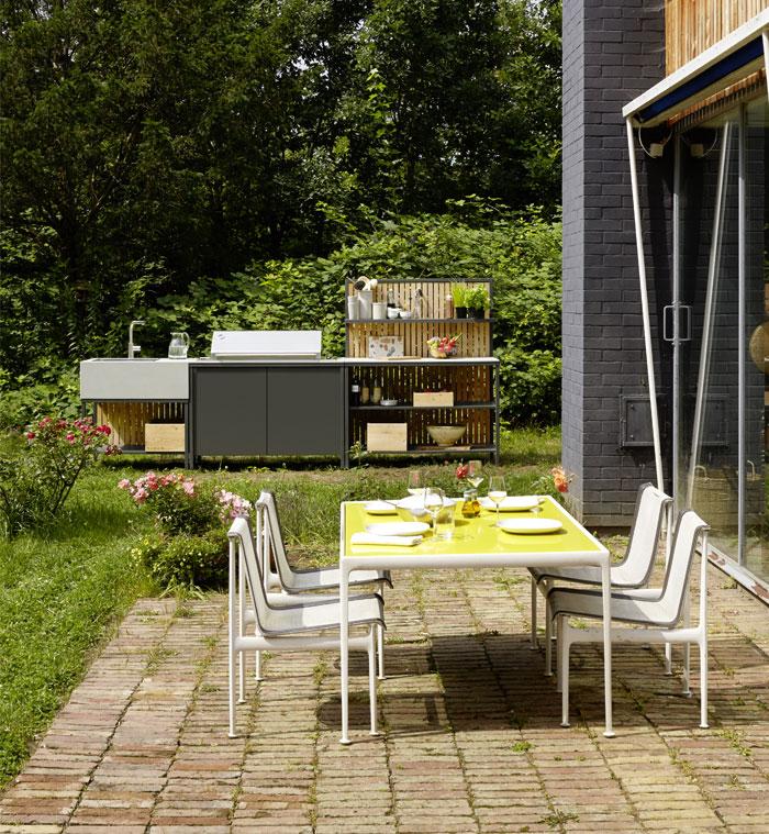 steel frames wooden elements grill kitchen kaufmann 1