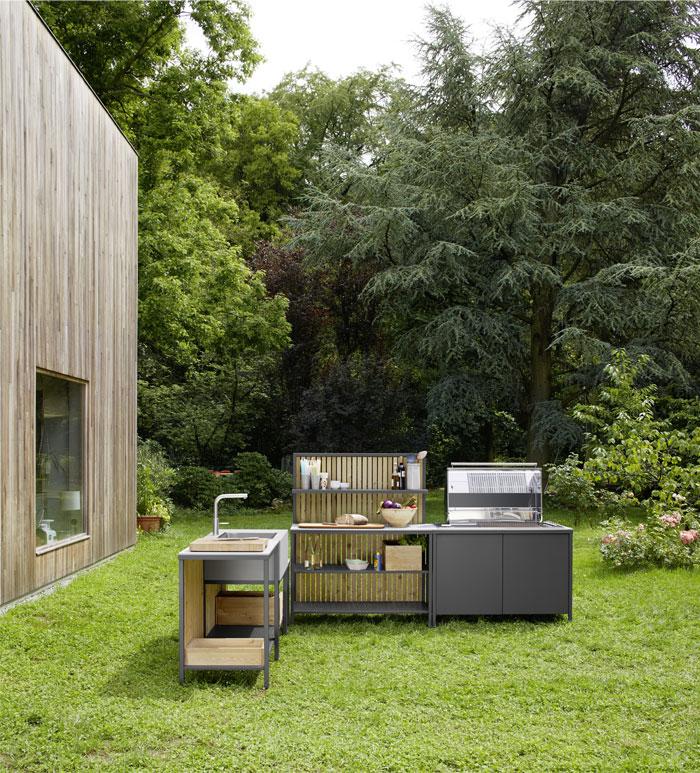 steel frames wooden elements grill kitchen kaufmann 2