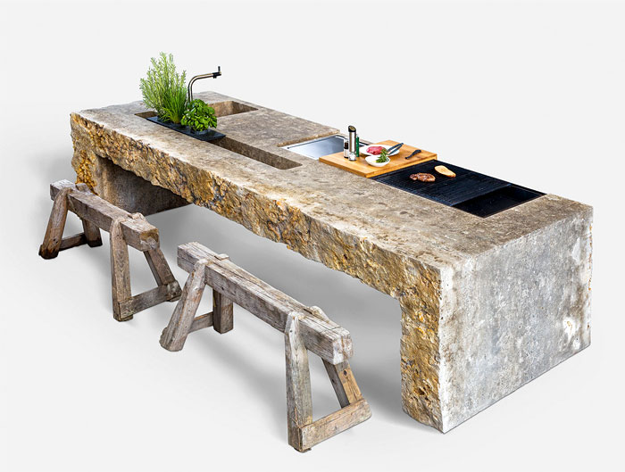 stone outdoor kitchen design 2