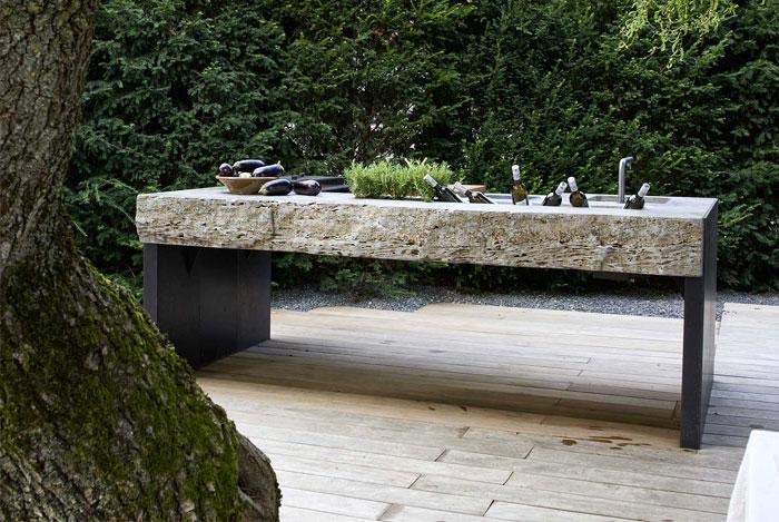 stone outdoor kitchen design 6