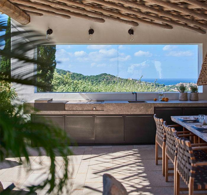 stone outdoor kitchen design mka01