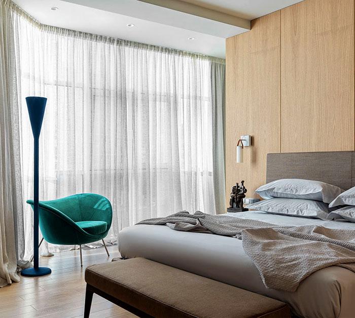 stylish bedroom wood clad walls 3