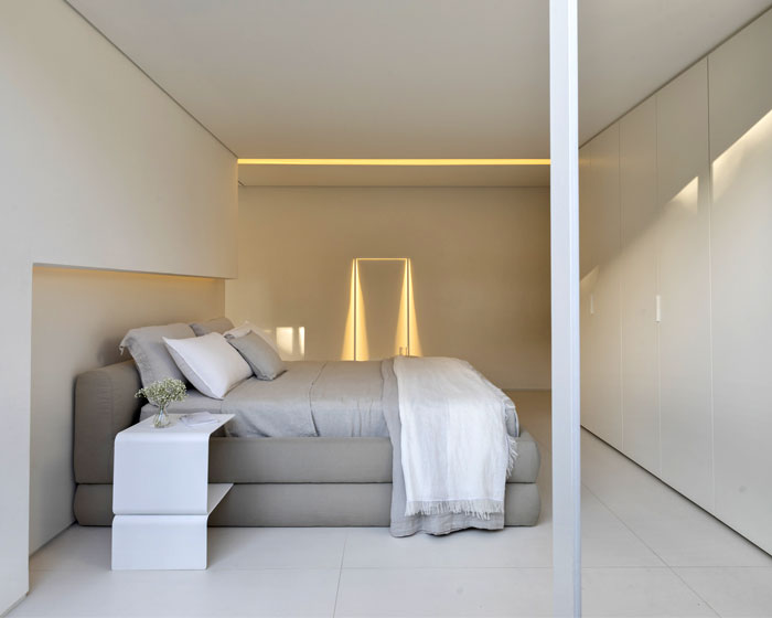 stylish monochrome minimalist bedroom 1