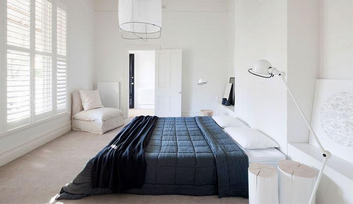 boho organic materials minimalist bedroom 2