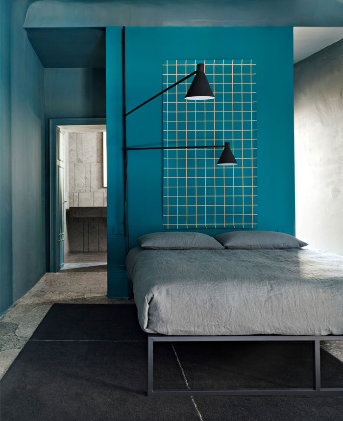 colorful modern minimalist bedroom decor 3