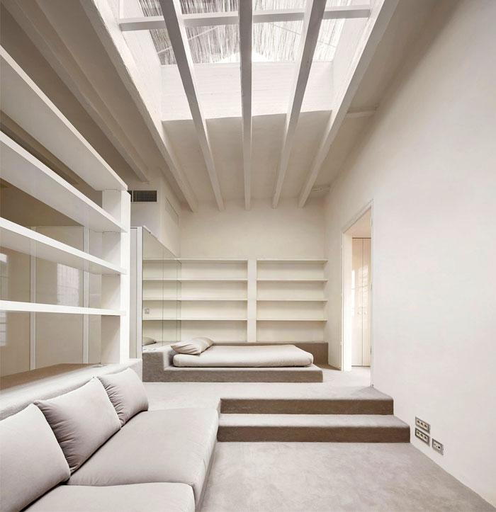 minimal all white bedroom decor 2