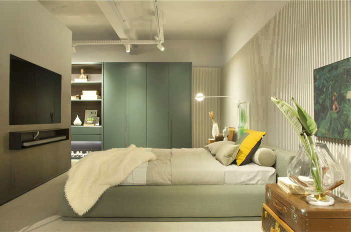 pastel color minimalist bedroom decor 1
