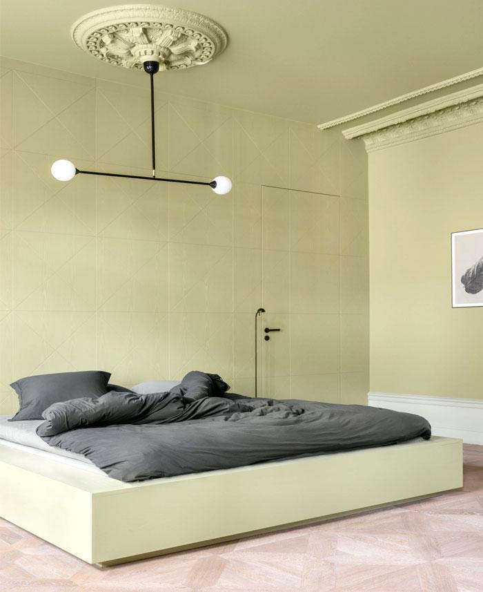 pastel color minimalist bedroom decor 2