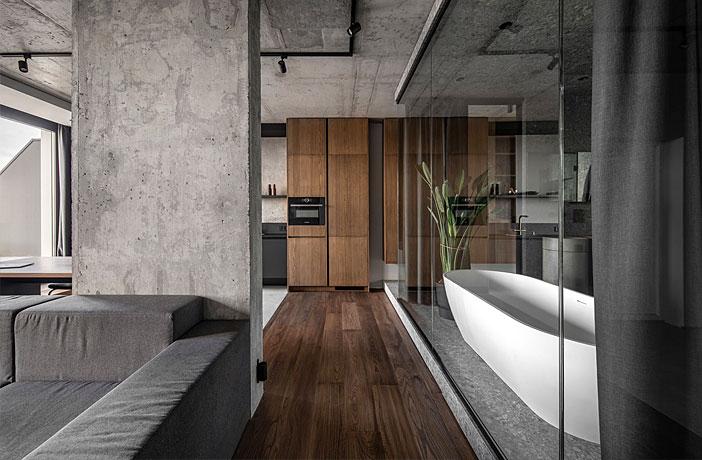 82 m2 Minimalist Apartment in Kyiv