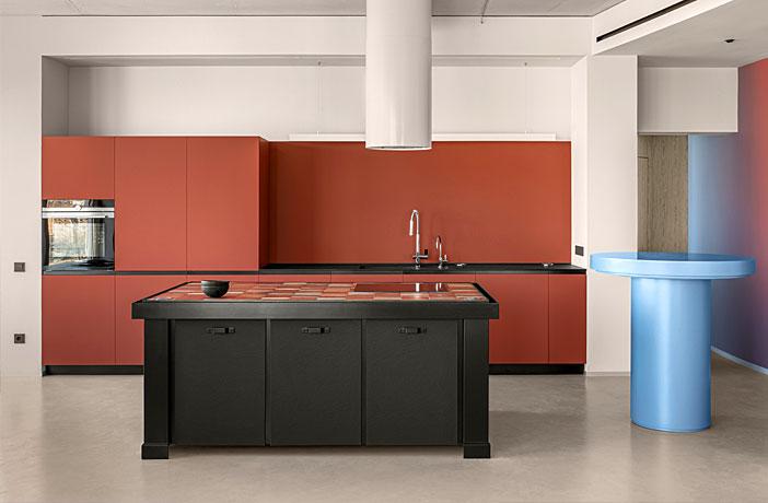 Blue Terracotta Apartment by Rina Lovko