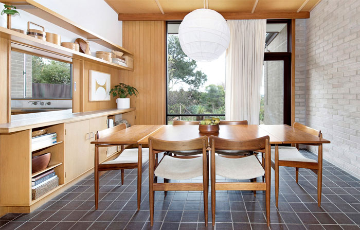 adorable mid century modern kitchen design 40