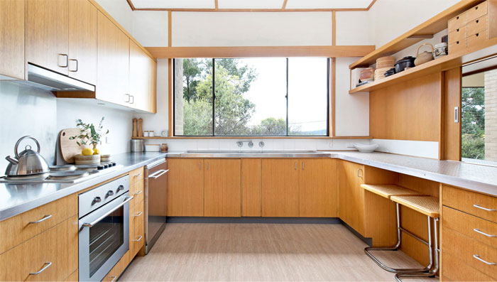 adorable mid century modern kitchen design 41