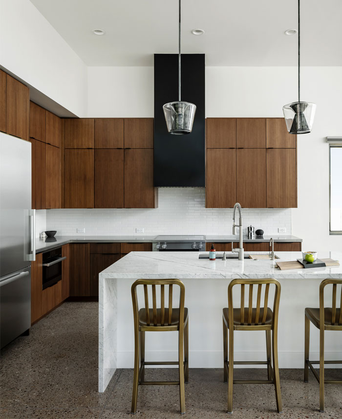 mid century modern sleek kitchen cabinets 2