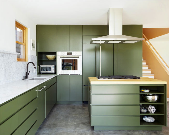 midcentury modern kitchen cabinets colour 13