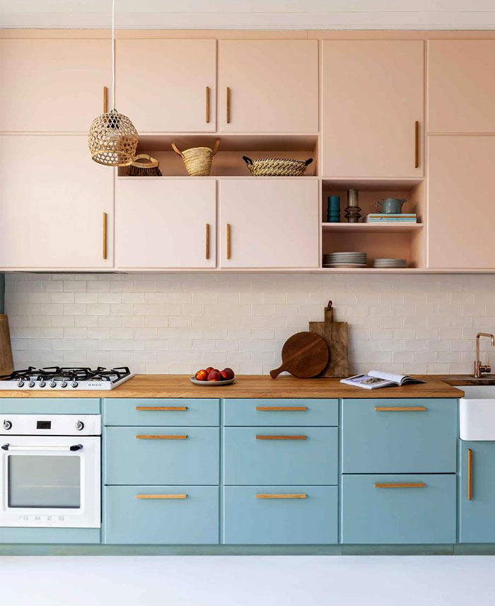 midcentury modern kitchen cabinets colour 8