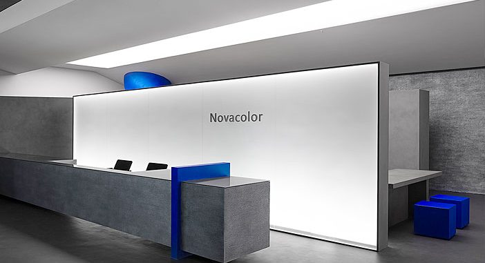 Novacolor Paint Showroom – A 180-square-meter Artistic Commercial Showroom