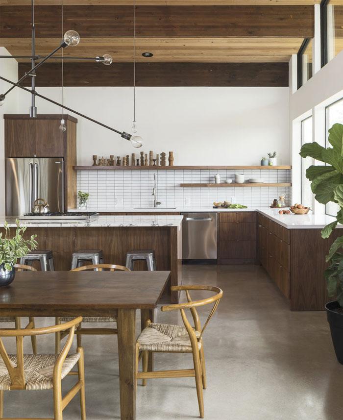 scandinavian kitchen mid sentury style 80