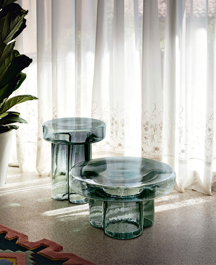 blown glass coffee tables soda collection 1