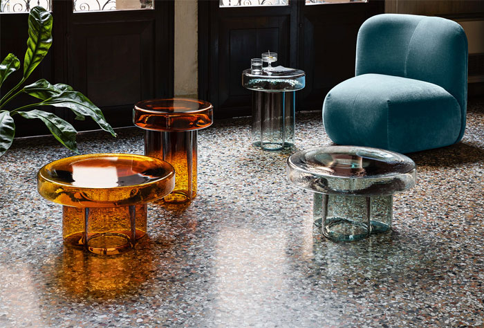 blown glass coffee tables soda collection 3