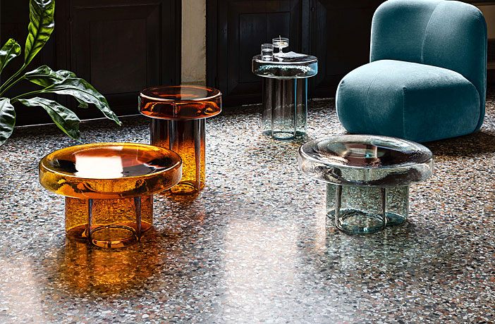 Soda Coffee Tables Made Entirely from Blown Murano Glass
