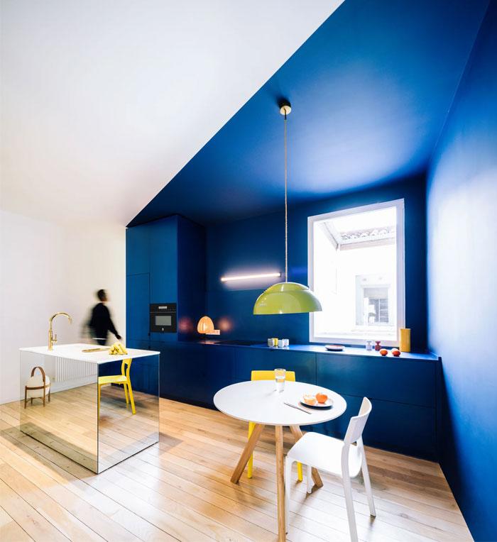 Navy Blue Kitchen 1