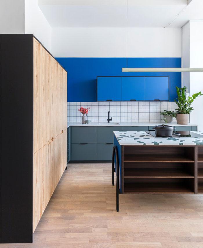 blue kitchen cabinets holte 8
