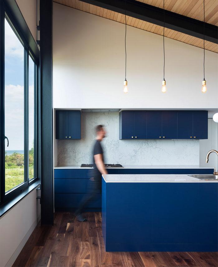 classic bluee kitchen