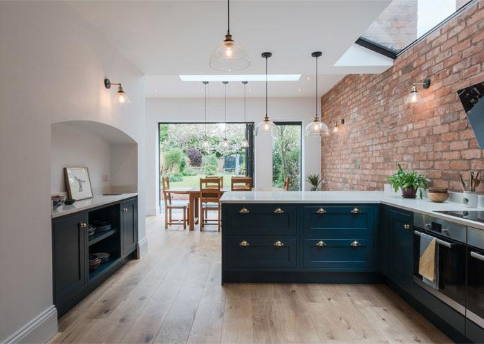exposed brick kitchen 6