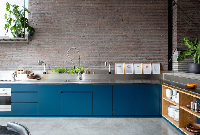 exposed brick kitchen 7