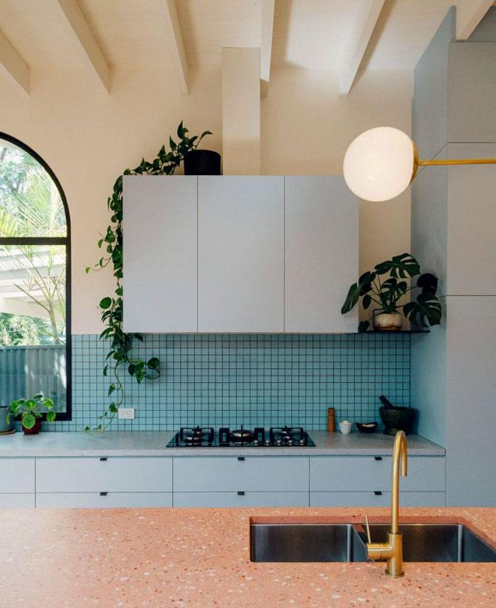 retro blue kitchen ideas 1