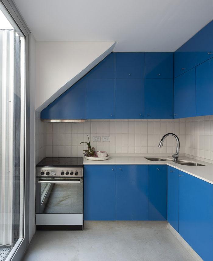 small blue kitchen zone 2
