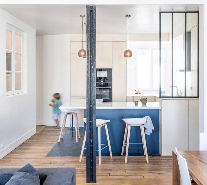 white blue kitchen cabinets 1