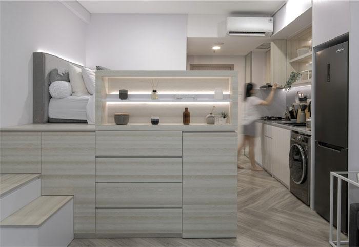 compact living apartment jakarta 3