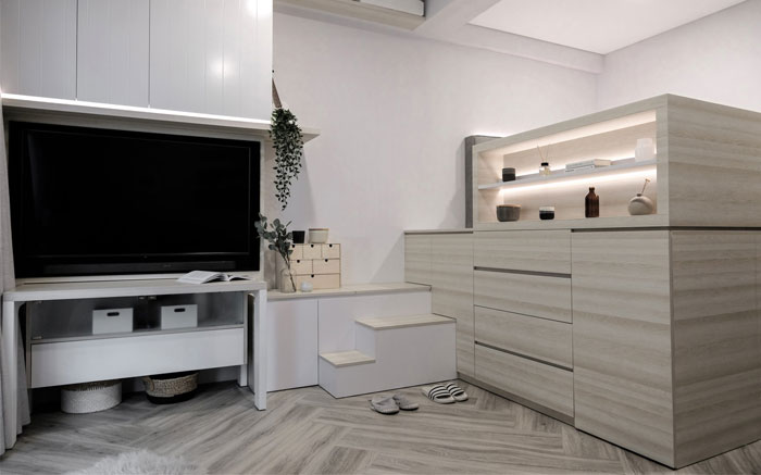 compact living apartment jakarta 8