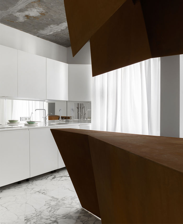 kashin architects all white interior space moscow 11