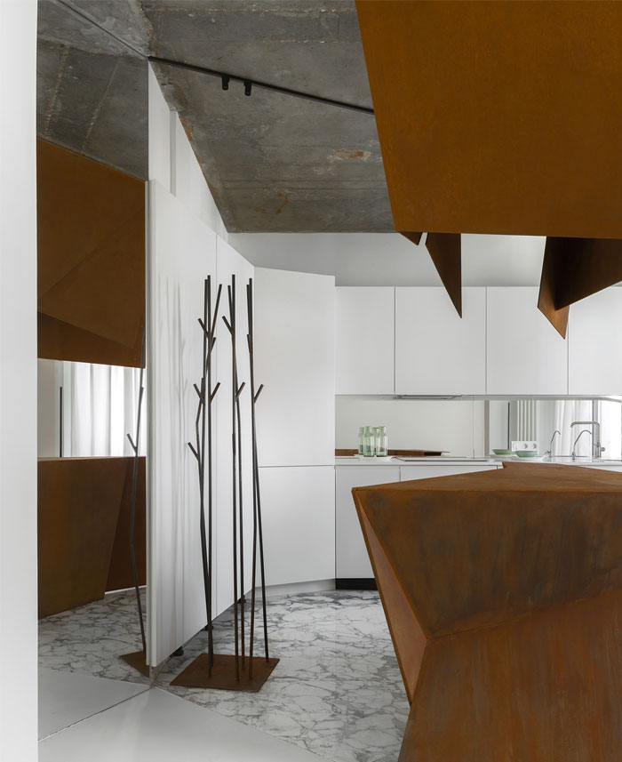 kashin architects all white interior space moscow 12