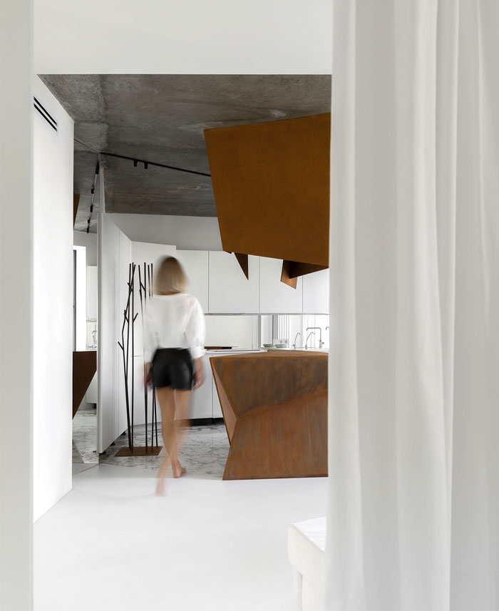 kashin architects all white interior space moscow 15