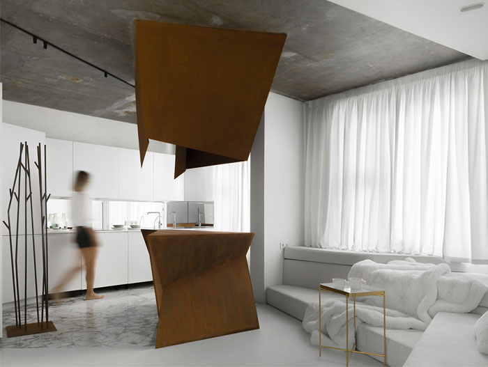 kashin architects all white interior space moscow 16