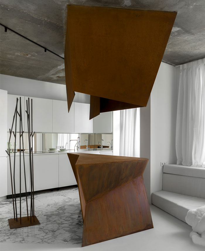 kashin architects all white interior space moscow 3