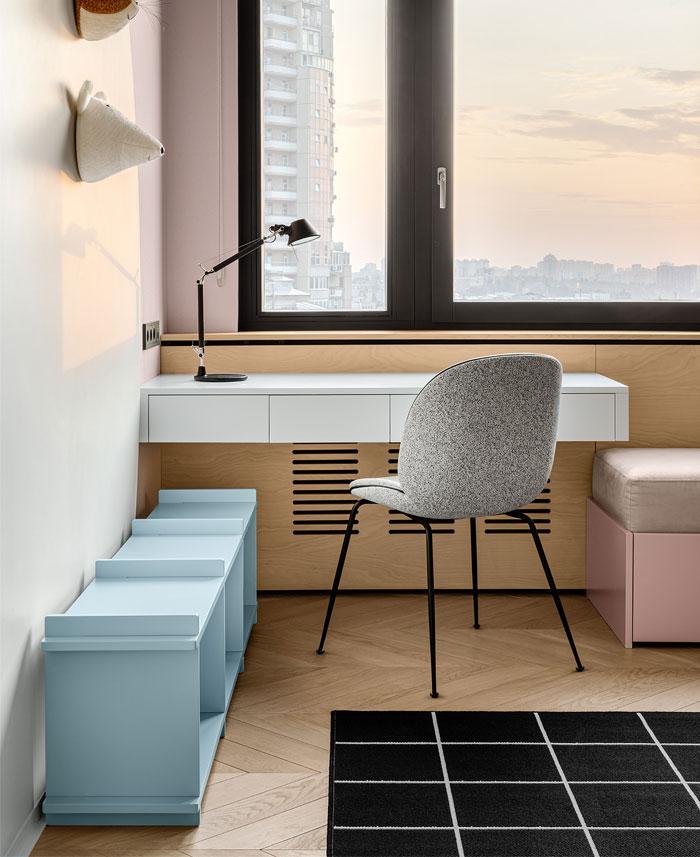 green L shaped kitchen apartment kyiv 18